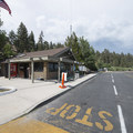 Office and restroom facility at West Public Boat Launch.- West Public Boat Launch