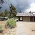 Restroom and shower facilities at Serrano Campground.- Serrano Campground