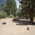 Typical campsite at Serrano Campground.- Serrano Campground
