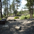 Typical campsite at Hanna Flat Campground.- Hanna Flat Campground