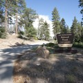Entrance to Hanna Flat Campground.- Hanna Flat Campground
