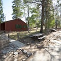 Guard station (not rentable) at Big Pine Flat Family Campground.- Big Pine Flat Family Campground