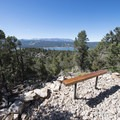 First bench at approximately 1.2 miles into hike.- Cougar Crest Trail