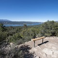 Second bench along the Cougar Crest Trail at roughly 1.7 miles.- Cougar Crest Trail