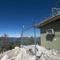 Communication facility at the summit of Bertha Peak (8,201 ft).- Bertha Peak Hike