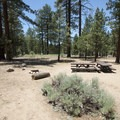 Typical campsite at Heart Bar Campground.- Heart Bar Campground