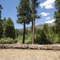 View of Sugarloaf Mountain (9,952 ft) from South Fork Campground.- South Fork Campground, Santa Ana River