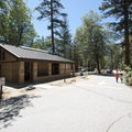 Restroom and shower facilities at San Gorgonio Campground.- San Gorgonio Campground