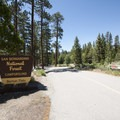 Entrance to Barton Flats Campground.- Barton Flats Campground
