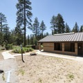 Restroom and shower facilities at Barton Flats Campground.- Barton Flats Campground