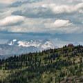 Granite Park Chalet from the Highline Trail approach.- Granite Park Chalet