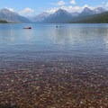 Crystal-clear waters of Lake McDonald.- Lake McDonald Paddle