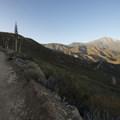 Dusk view of San Bernardino Peak (10,649 ft) and the Mill Creek valley.- Morton Peak Hike