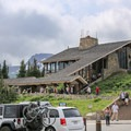 Logan Pass Visitor Center along Going-to-the-Sun Road.- Going-to-the-Sun Road