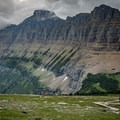Going-to-the-Sun Road from Logan Pass.- Going-to-the-Sun Road
