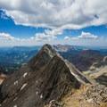 The ridge traverse from El Diente (pictured) to the summit of Mount Wilson.- El Diente to Mount Wilson Traverse