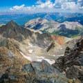 Looking east over the San Juans from the summit of Mount Wilson.- El Diente to Mount Wilson Traverse