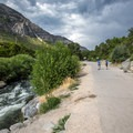 Path to the upper parking area.- Bridal Veil Falls, Utah