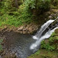 The view above Majestic Falls.- McDowell Creek Falls County Park