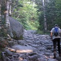 Until you reach the Lion's Head Trail, the entire way up Tuckerman's Ravine Trail is all rock like this.- Mount Washington: Lion Head Trail Summer Route