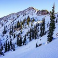 Enjoying the descent below Sunset Peak.- Catherines Pass Backcountry Ski