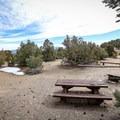 A standard campsite.- Grandview Campground