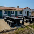Day use area in front of the island visitor center.- Anacapa Islands