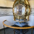 The Fresnel lens from the lighthouse inside the visitor center.- Anacapa Islands