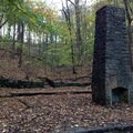 The chimney of an old cabin along the Mossy Ridge Trail in Warner Parks.- Mossy Ridge Trail, Warner Parks