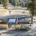 Beginning of the Methuselah Trail near the front of the visitor center building.- Methuselah Trail