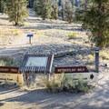 Beginning of the Methuselah Trail near the front of the visitor center building.- Methuselah Trail