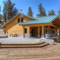 The recently-constructed Bristlecone Pine Forest Visitor Center.- Ancient Bristlecone Pine Forest