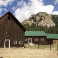 A barn at McGraw Ranch.- Bridal Veil Falls via Cow Creek Trail