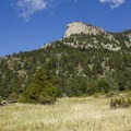 An unnamed pinnacle to the north of Cow Creek Trail.- Bridal Veil Falls via Cow Creek Trail