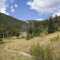 A typical view along the trail to Bridal Veil Falls.- Bridal Veil Falls via Cow Creek Trail