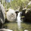 A small cascade below Bridal Veil Falls.- Bridal Veil Falls via Cow Creek Trail