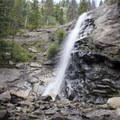 Bridal Veil Falls cascades about 20 feet.- Bridal Veil Falls via Cow Creek Trail