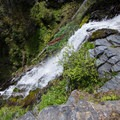 One of several falls in the area.- Sky High Lakes Basin