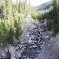 The canyon at Roaring River was washed out by the 2013 floods.- Ypsilon Lake