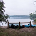 Rental Canoes from the campground services.- Burlingame State Park Campground