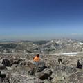 Resting among the boulders on Cloud Peak.- Cloud Peak Via West Tensleep Trailhead