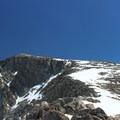 View of Cloud Peak's summit from 12,500 feet.- Cloud Peak Via West Tensleep Trailhead