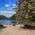 Off-leash dog area.- Buntzen Lake Beach