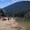 The beach at Buntzen Lake.- Buntzen Lake Beach