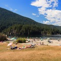 Hanging out at the beach.- Buntzen Lake Beach