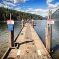 The dock at Buntzen Lake.- Buntzen Lake Beach