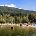 Buntzen Lake Recreation Area.- Buntzen Lake Beach