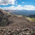 The summit ridge to Spread Eagle Peak.- Gladys Lake