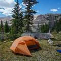 Camp at Gladys Lake.- Gladys Lake