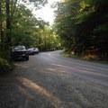 Parking along Lincoln Road for Bristol Falls.- Bristol (Bartlett) Falls + Circle Current Swimming Hole